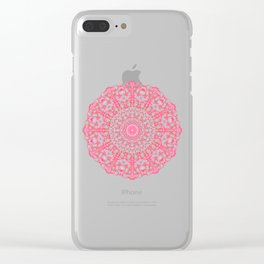 Mandala 12 / 4 eden spirit ruby red Clear iPhone Case