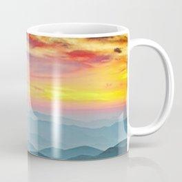 Mountain Range Sunset Coffee Mug