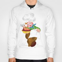 chef Hoodies featuring Happy Chef by Valeria Foden