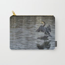 Double-Crested Cormorant Landscape Carry-All Pouch