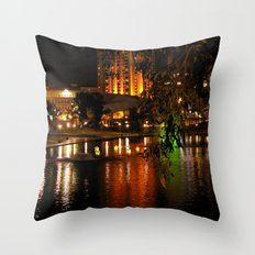 Night Time on the Torrens Throw Pillow