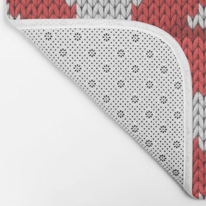 Lips pattern - white Bath Mat