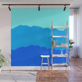 Minimal Mountain Range Outdoor Abstract Wall Mural