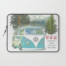 """Not all who wander, are lost"" poster print Laptop Sleeve"