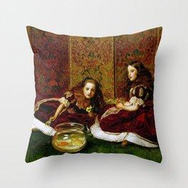 John Everett Millais - Leisure Hours Throw Pillow