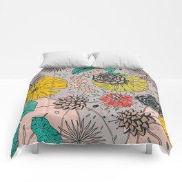 Olga loves flowers Comforters