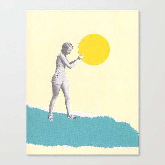She Caught the Sun Canvas Print