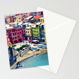 Italy Liguria Cinque Terre Seaside Colorful Houses Stationery Cards
