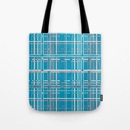 Digital Check Tote Bag