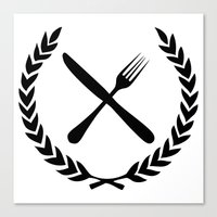 eat Canvas Prints featuring Eat by Noah Zark