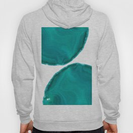 Turquoise Teal Green Agate #1 #gem #decor #art #society6  Hoody