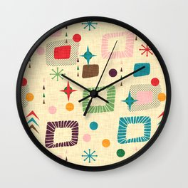 Atomic pattern Wall Clock