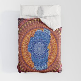 Lake Tahoe Mandala - OG Colors Duvet Cover