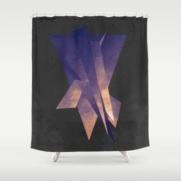 Frei-Flug-Form Shower Curtain