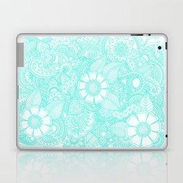 Henna Design - Aqua Laptop & iPad Skin