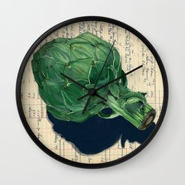 Artichoke in Gouache Wall Clock