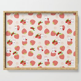 Bunnies and Strawberries Serving Tray