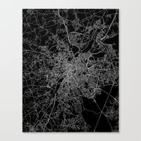 brussels Canvas Prints featuring Brussels by Line Line Lines