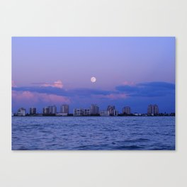 Moon over Fort Myers Canvas Print