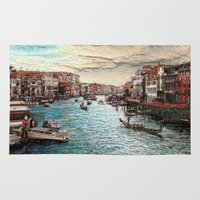 venice Area & Throw Rugs featuring Venice by MehrFarbeimLeben