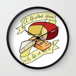 Cheese Please Wall Clock