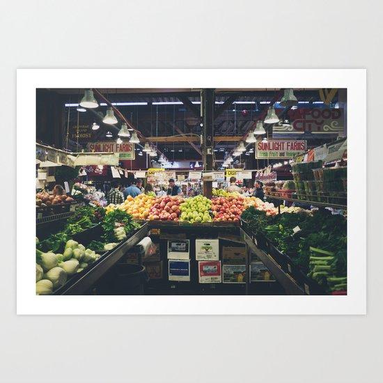 Granville Market Art Print