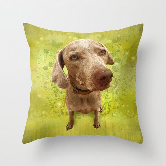 PARKER POSEY (kiwi) puffy cloud series Throw Pillow