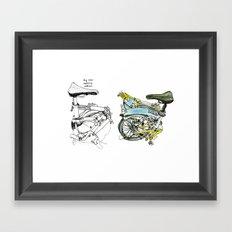 My brompton Framed Art Print