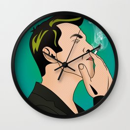 comics   smocking man Wall Clock