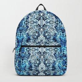 Beautiful Blue Foklore Damask Pattern Backpack