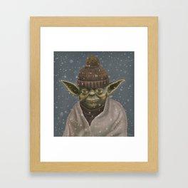 Christmas Yoda Framed Art Print