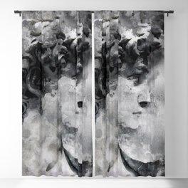 Watercolor David Michalengelo Blackout Curtain