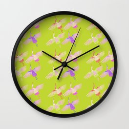 Cranes embrodery Wall Clock