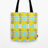 cassette Tote Bags featuring Cassette by Molly Yllom Shop