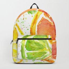 Fruit Juicy Citrus Watercolor Backpack
