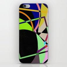 Retro Pastel X - Abstract, geometric, scandinavian pattern artwork iPhone & iPod Skin