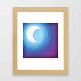 Good Night // Night Time Moon Framed Art Print