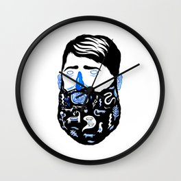 Animal Beard Wall Clock