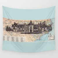 north carolina Wall Tapestries featuring North Carolina by Ursula Rodgers