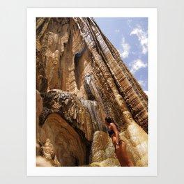 petrified waterfalls Art Print