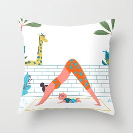 in a yoga state of mind Throw Pillow
