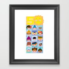 happy 50th small world! Framed Art Print