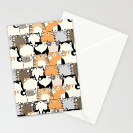 Staring Cats Stationery Cards