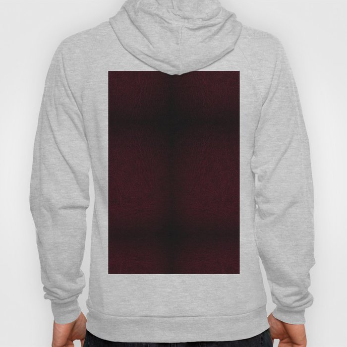 Claret leather sheet texture abstract Hoody