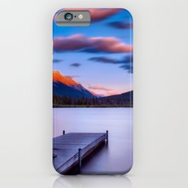 Canada Photography - Dock By The Lake And Beautiful Landscape iPhone Case