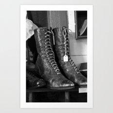 Ladies Boots Art Print