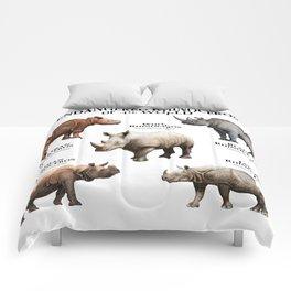 Endangered Rhinoceros of the World Comforters