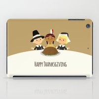 thanksgiving iPad Cases featuring Happy Thanksgiving by Sara Showalter