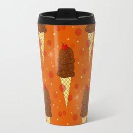 Chocolate Scoops Pattern Travel Mug