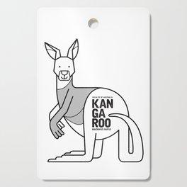 Kangaroo, Wildlife of Australia Cutting Board